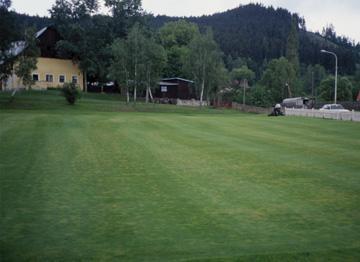 trawnik na polu golfowym